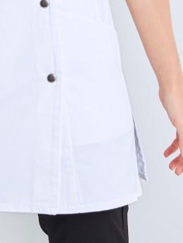 Vêtement de travail homme tunique SANCHO blanc garni noir