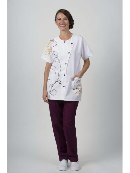 Pantalon Mixte Coupe Droite Blanc ZATOL