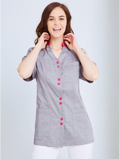 Pantalon coupe ajustée Femme SAVIA Blanc