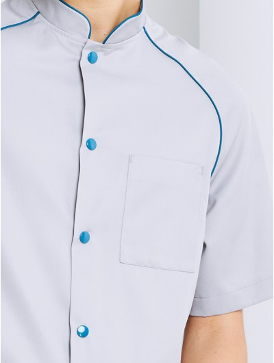 Veste De Cuisine Homme en Jean's stretch LEO